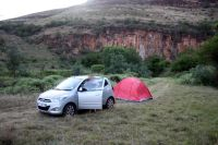 With a rented car through South Africa